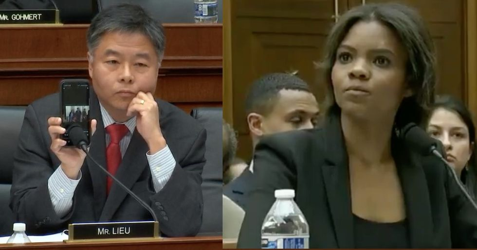 Congressman slams MAGA 'expert' Candace Owens by playing her own Hitler comments at hearing.