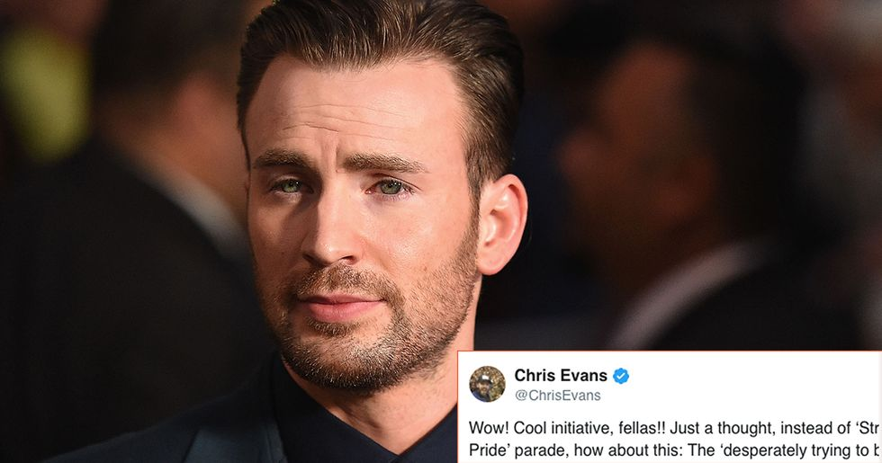 Captain America, Chris Evans, hit the nail on the head about the actual reason these men want a straight pride parade.