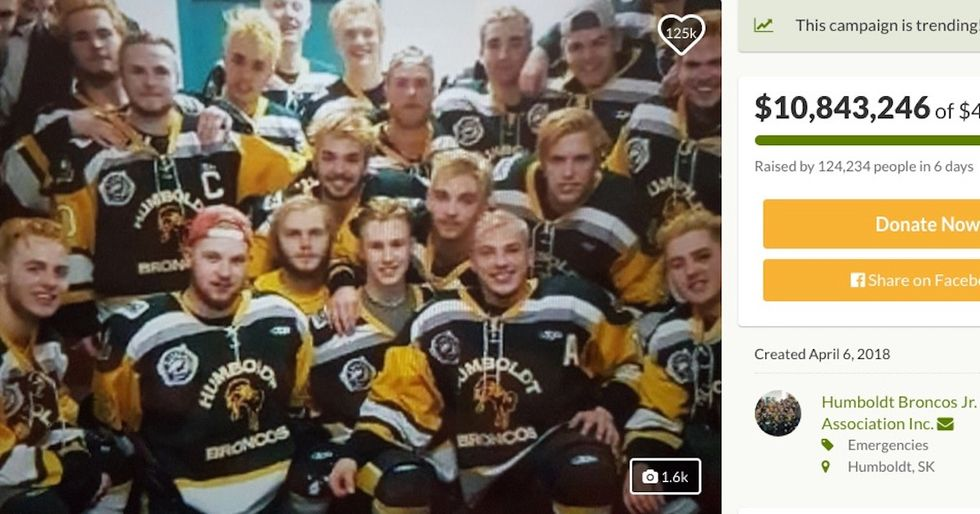 Wildly Successful GoFundMe Raises Over $10 Million For Victims Of Deadly Hockey Bus Crash