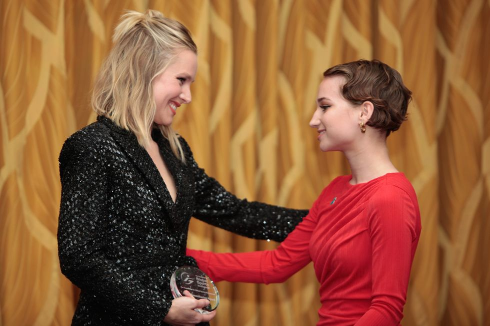 Kristen Bell Honors The Gymnasts Of The #MeToo Movement