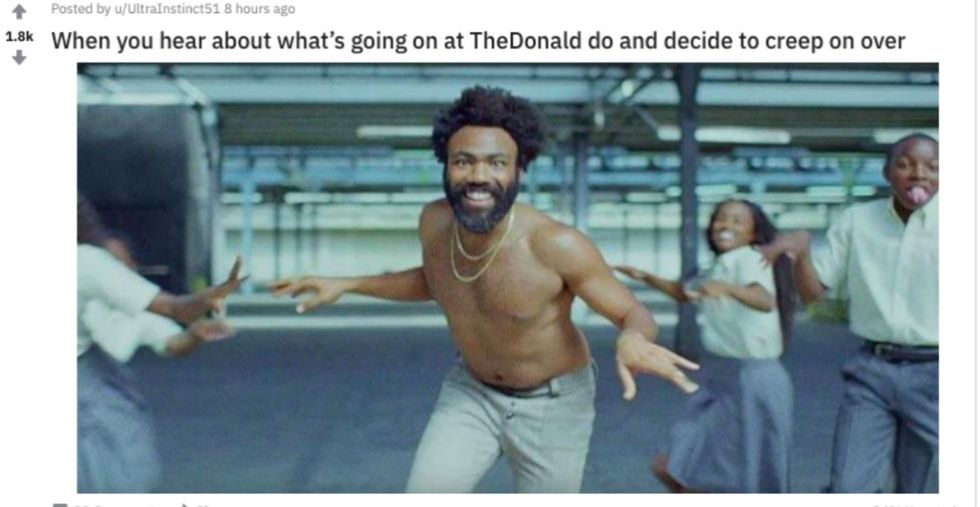 Donald Glover Fans Took Over A Pro-Trump Reddit Page, And It Was Beautiful