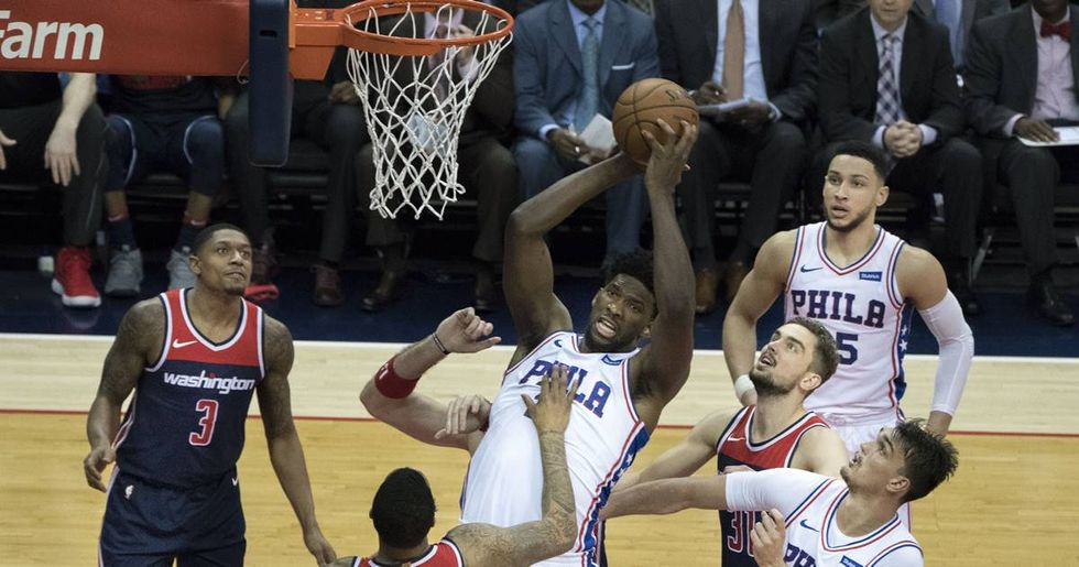 Sixers' Joel Embiid Enjoys His Offseason By Dunking On Pickup Players At A Philadelphia Playground