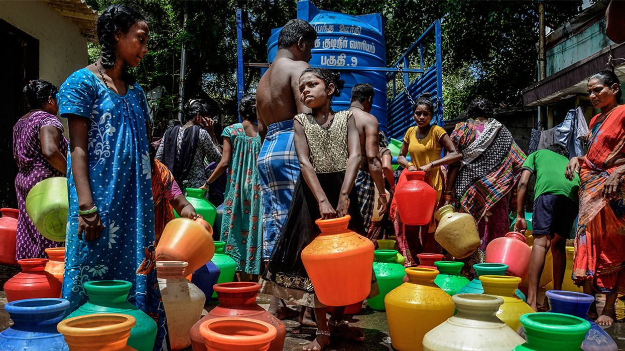 Train Carrying 660,000 Gallons of Water Arrives in India's Parched Chennai