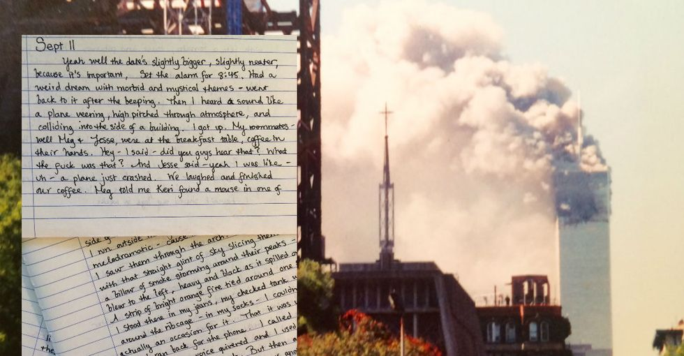 ​Read the incredibly moving diary entry a young woman wrote on September 11, 2001.