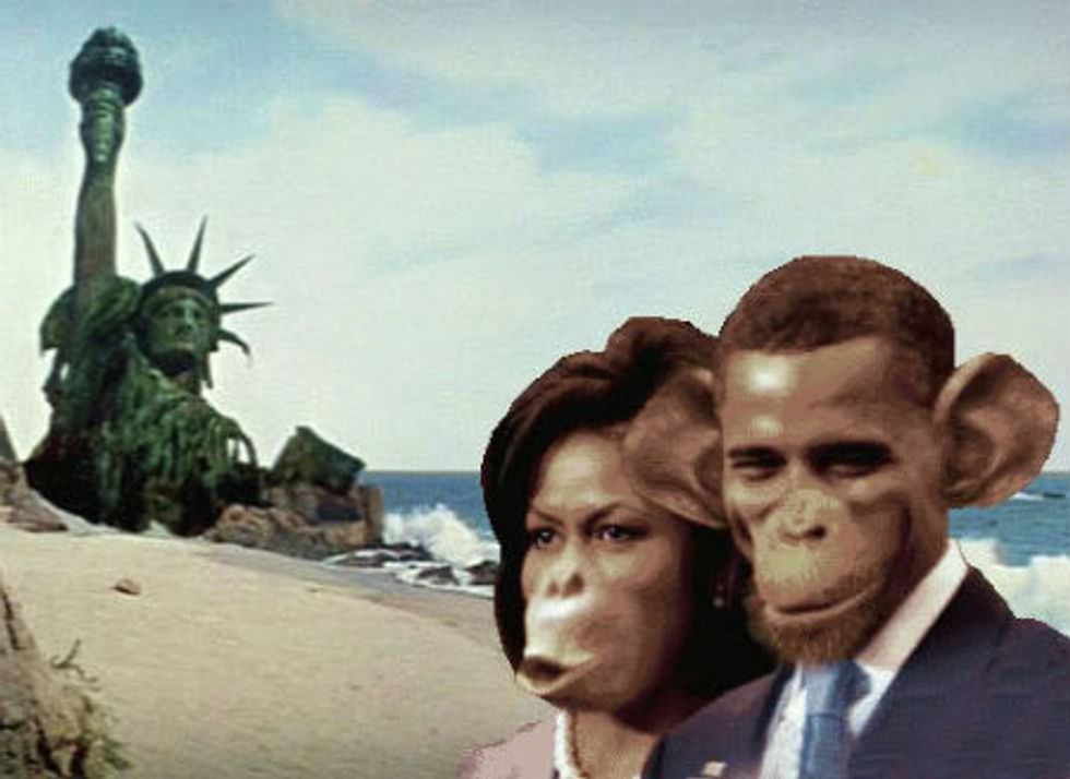 Image result for michelle obama monkey ape