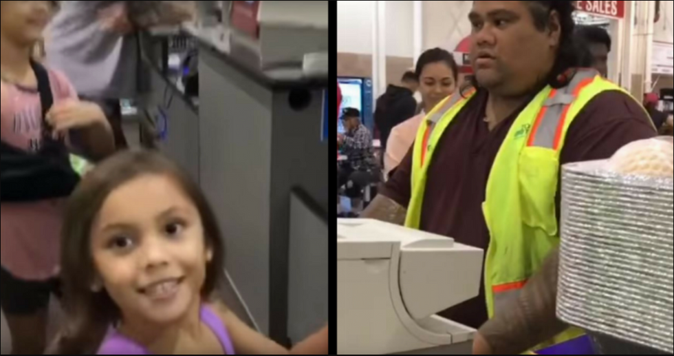 Sisters Mistake Cashier For A Cartoon Character They Love. His Response Is The Sweetest.