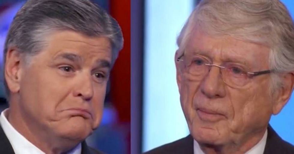 Ted Koppel Tells Sean Hannity He's Bad For America