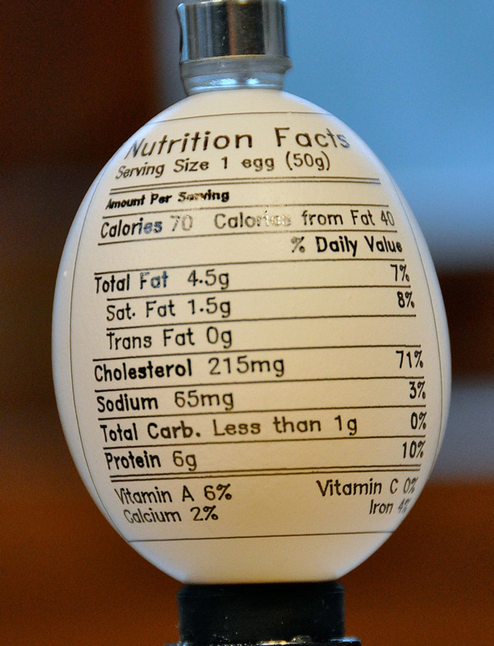 Printing Nutrition Labels on Food