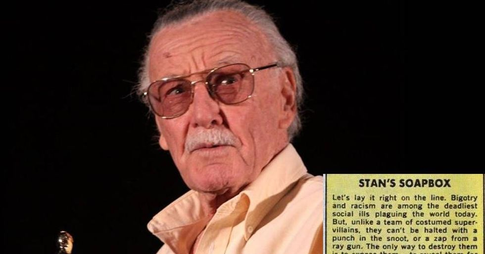 This Stan Lee quote is going crazy viral today for obvious reasons.
