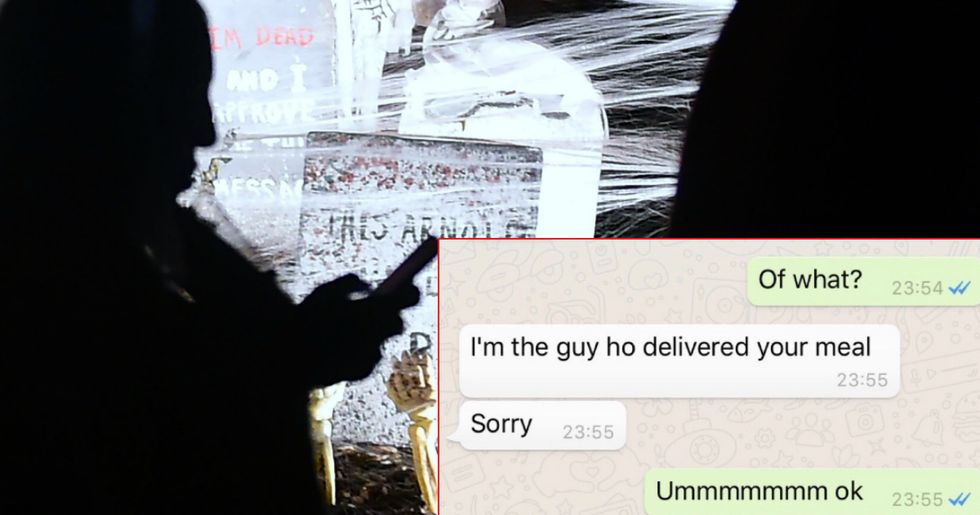 Woman goes viral after sharing delivery guy's insanely creepy texts and company's terrible response.