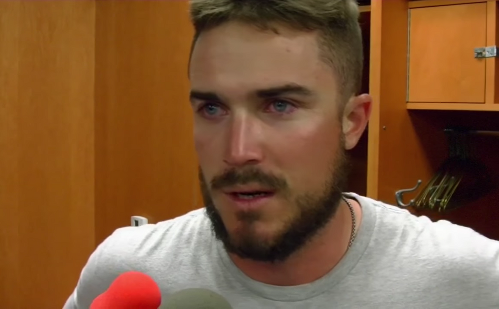 Watch MLB Player's Emotional Reaction To Learning He Made The Team