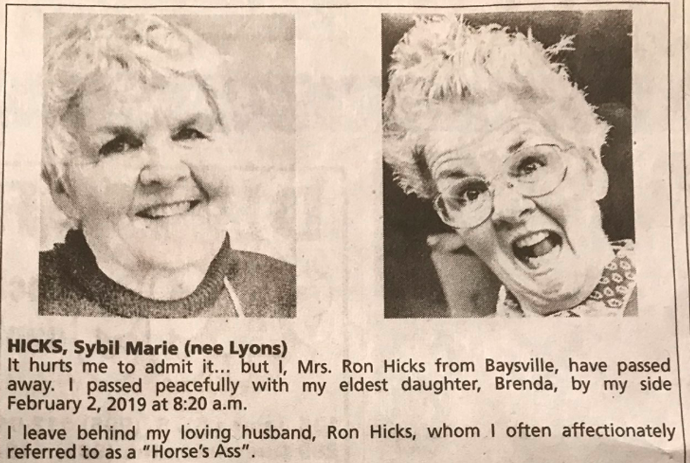 Recently-deceased mom becoming a celebrity after her kids' publish stunningly clever obituary.