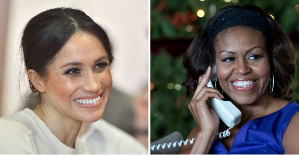 Michelle Obama has the most relatable advice for Meghan Markle.