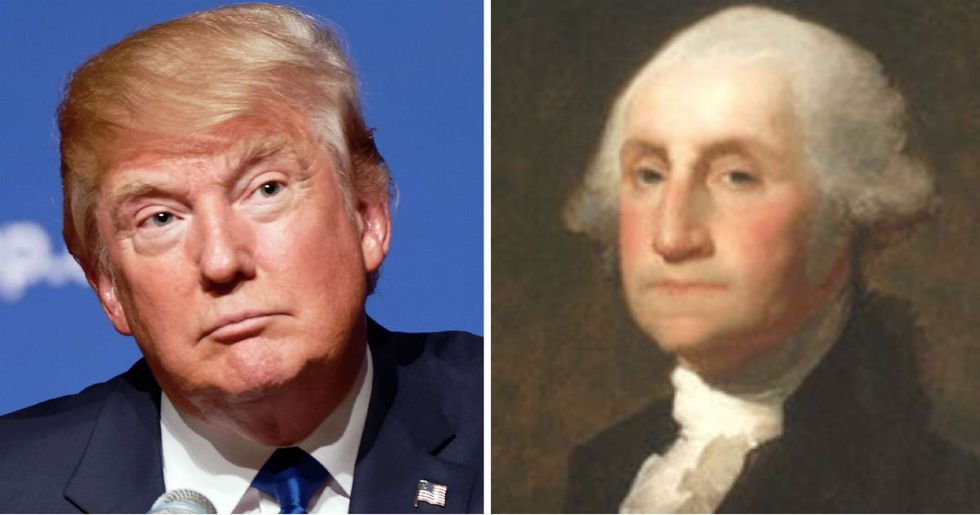 A confused Trump wanted to know why George Washington didn't name Mount Vernon after himself.