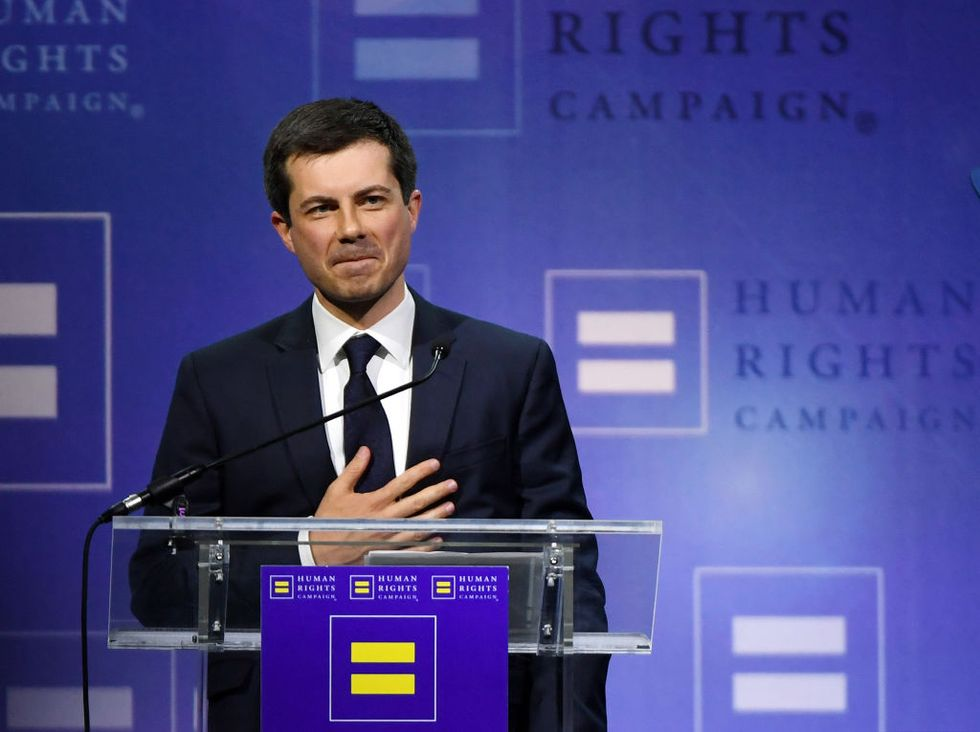 Have we already had a gay president? Pete Buttigieg thinks so.
