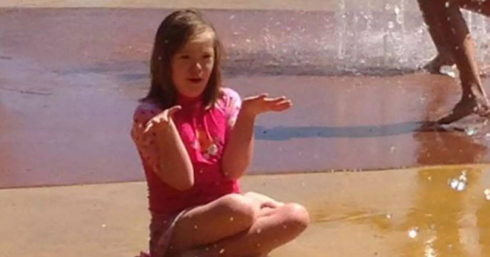 To the red-haired girl at the splash pad who asked about my daughter with down syndrome.