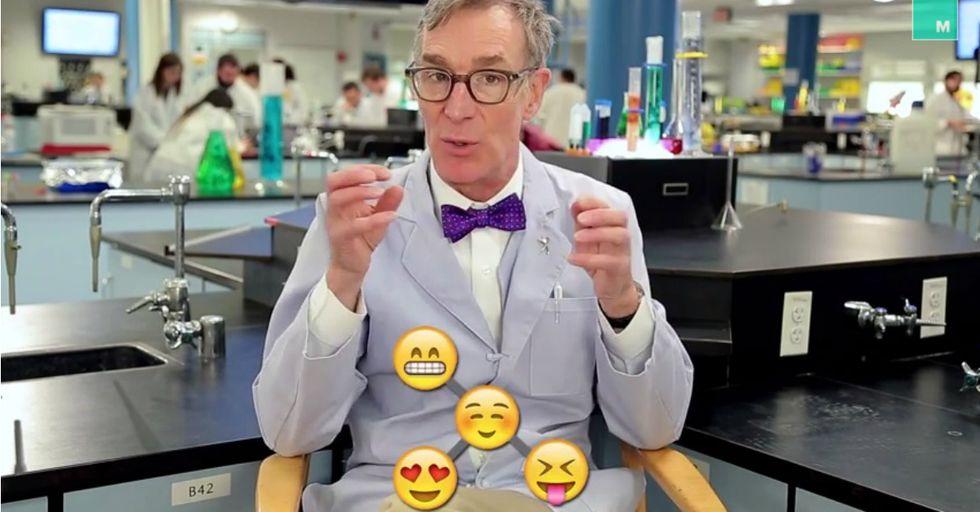 Bill Nye Uses Little Emoji to Explain Evolution in 90 Seconds