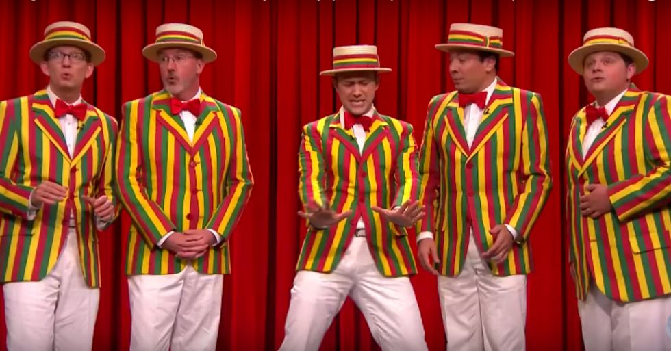 Jimmy Fallon and Joseph Gordon-Levitt Just Sang Hilarious Ragtime Cover of One of Rihanna's Biggest Hits