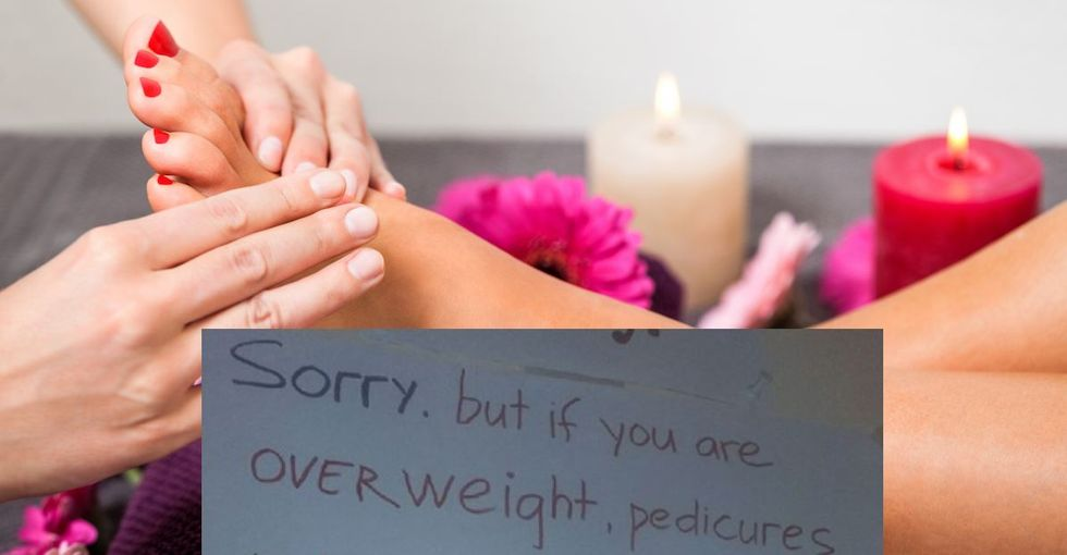 The internet is outraged at this nail salon for charging 'overweight' people extra.