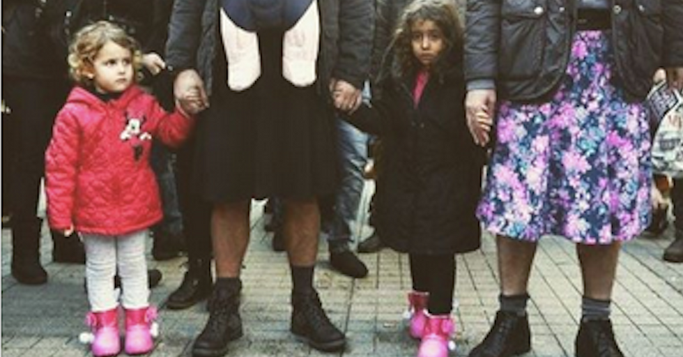 Turkish Men Marched Against Sexual Violencein Skirts
