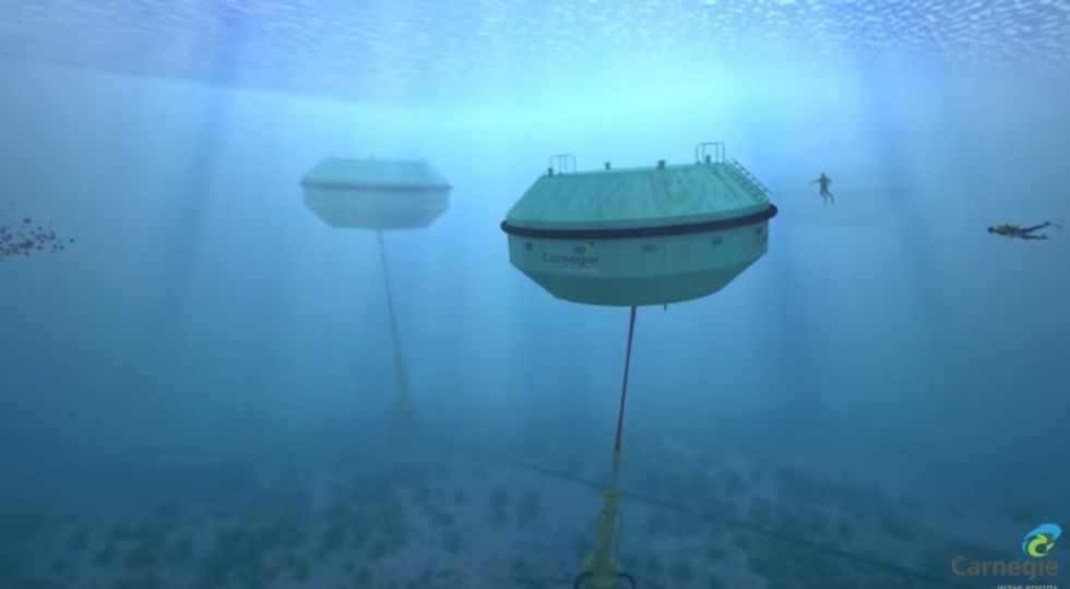 Australia Uses The Motion Of The Ocean To Generate Zero-Emission Electricity And Desalinate Water Simultaneously