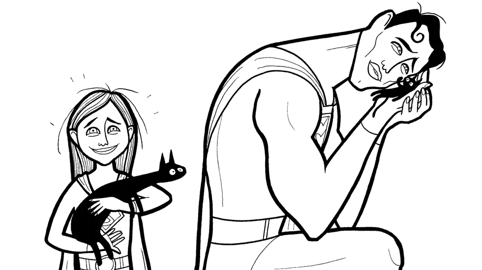 """Cartoonist Creates """"Super Soft Heroes"""" Coloring Book to Show Son That Heroes Can Cry"""