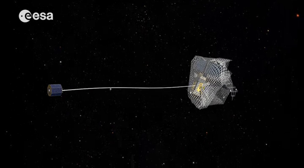 Want To Catch Orbiting Space-Junk? Give Space-Nets A Try