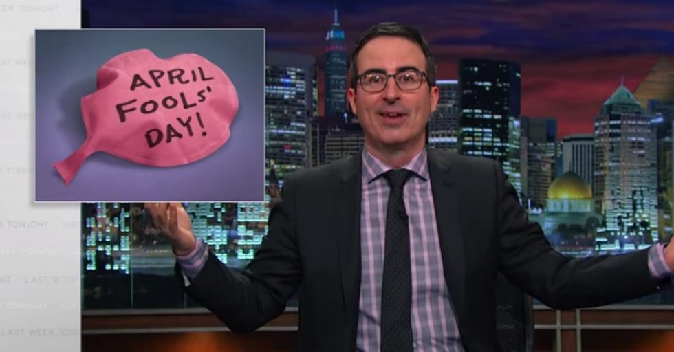 John Oliver Puts a Brilliant End to April Fools' Day