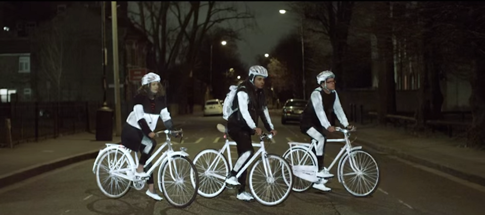 Volvo's Glow-In-The-DarkLifePaint is the Modern Safety Solution Cyclists Have Been Begging For