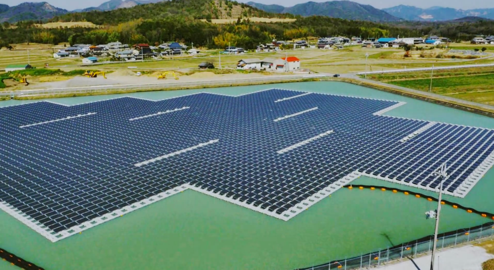 Japan Unveils A Pair Of Massive, High-Efficiency, Floating Solar Power Plants