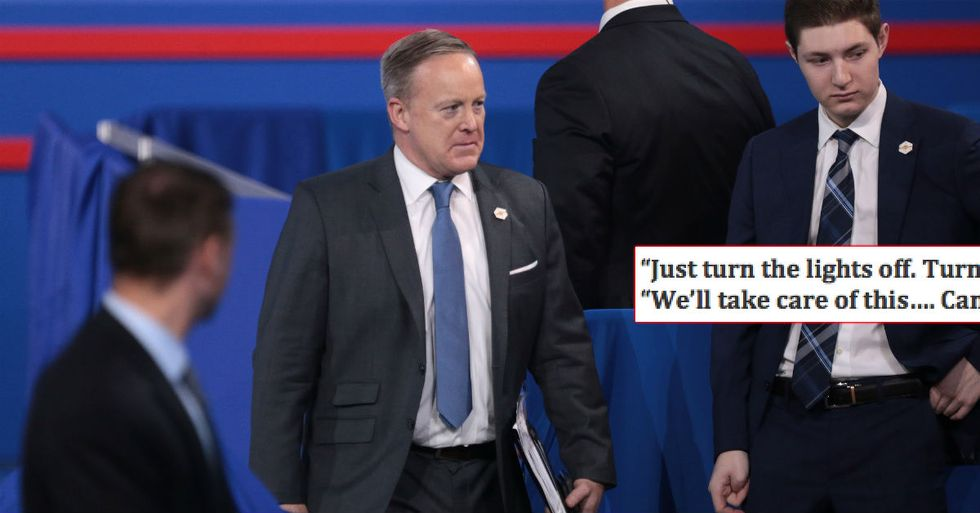 Sean Spicer Was 'Hiding In The Bushes' After Comey Was Fired