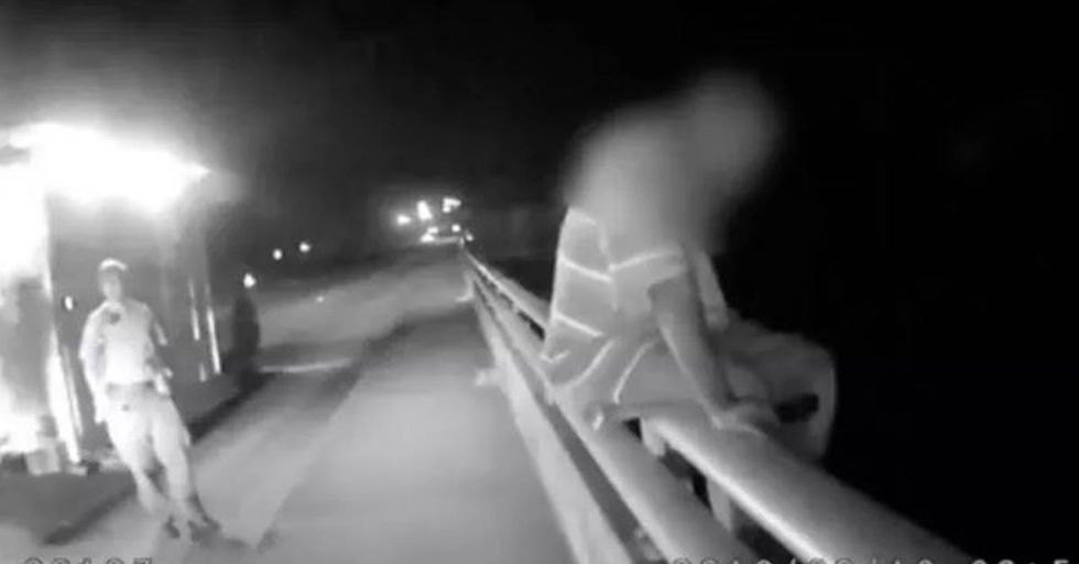 Officer Saves A Suicidal Man's Life After Talking To Him About Football