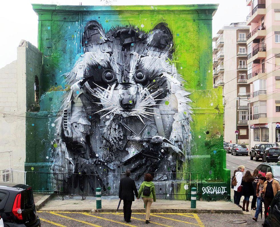 Lisbon's Junk Gets a Second Life as Gorgeous 3D Animal Street Art