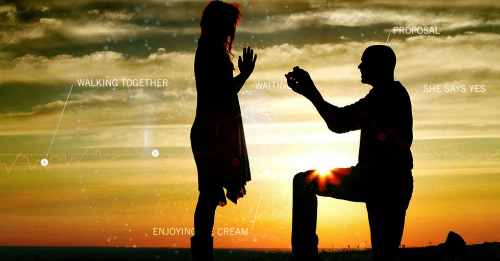 Witness a Marriage Proposal Measured in Heartbeats