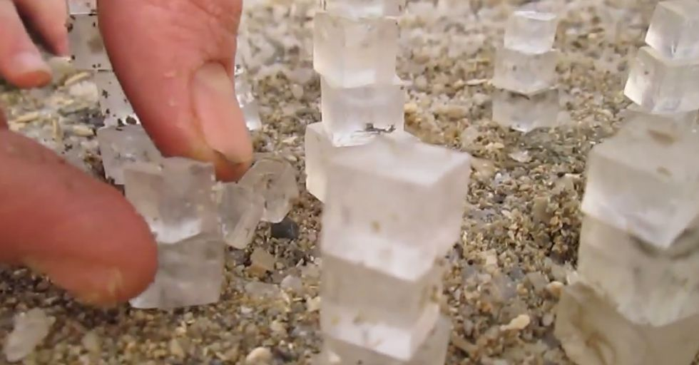 Perfect Salt Cubes Produced by the Dead Sea.