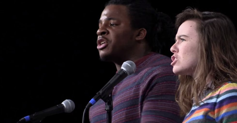 Two Poets Trade Places and Races for an Incredible Performance