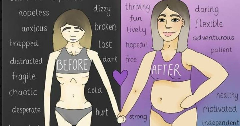 Artist Shares Brutally Honest Illustrations That Helped Her Fight Anorexia