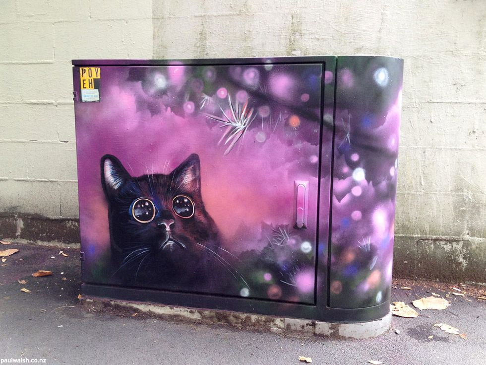 Meet the Painter Turning His City's Drab Utility Boxes Into Internet-Inspired Works of Art