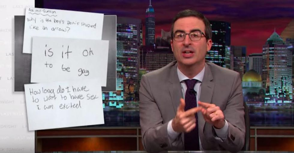 John Oliver Teaches Sex Ed to Americans With Hilarious New PSA
