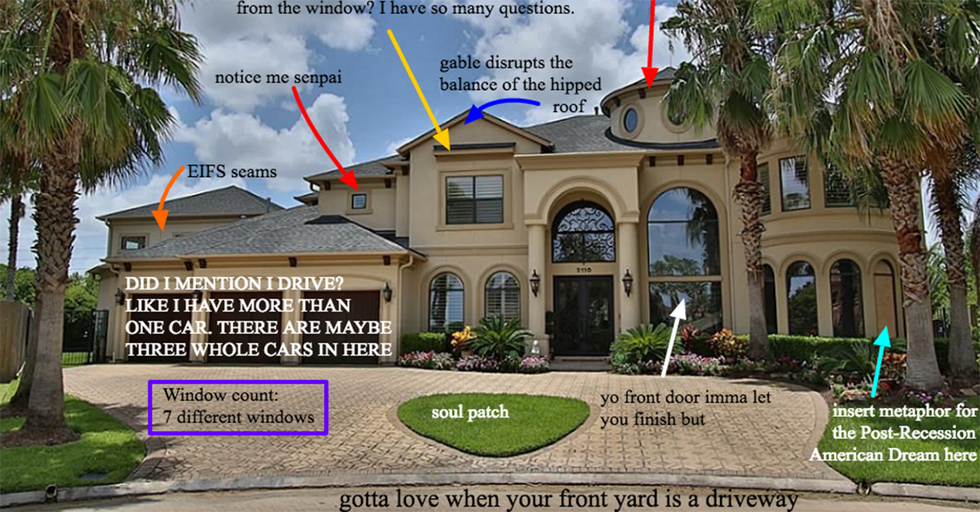 'McMansion Hell' Reminds Us That Generic, Sprawling Houses Are Guilty Of More Than Bad Taste