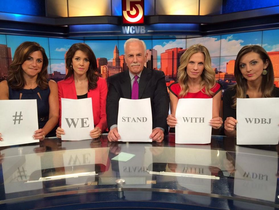 #WeStandWithWDBJ Becomes Rallying Cry as Journalists Pay Tribute to Victims of the WDBJ7 Shooting