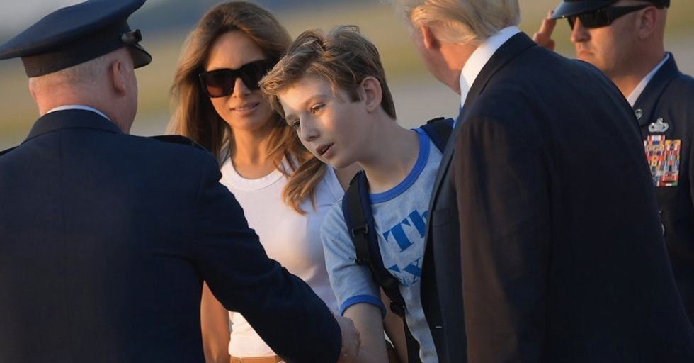 Barron Trump Accidentally Became A Fashion Trendsetter With This One Shirt