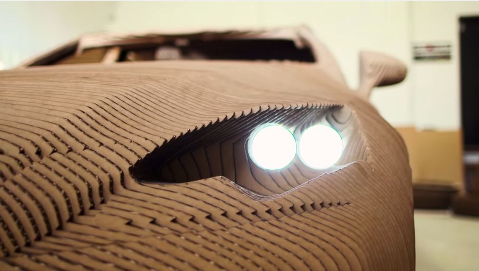 This NewLuxury Car is Made Entirely out of Cardboard