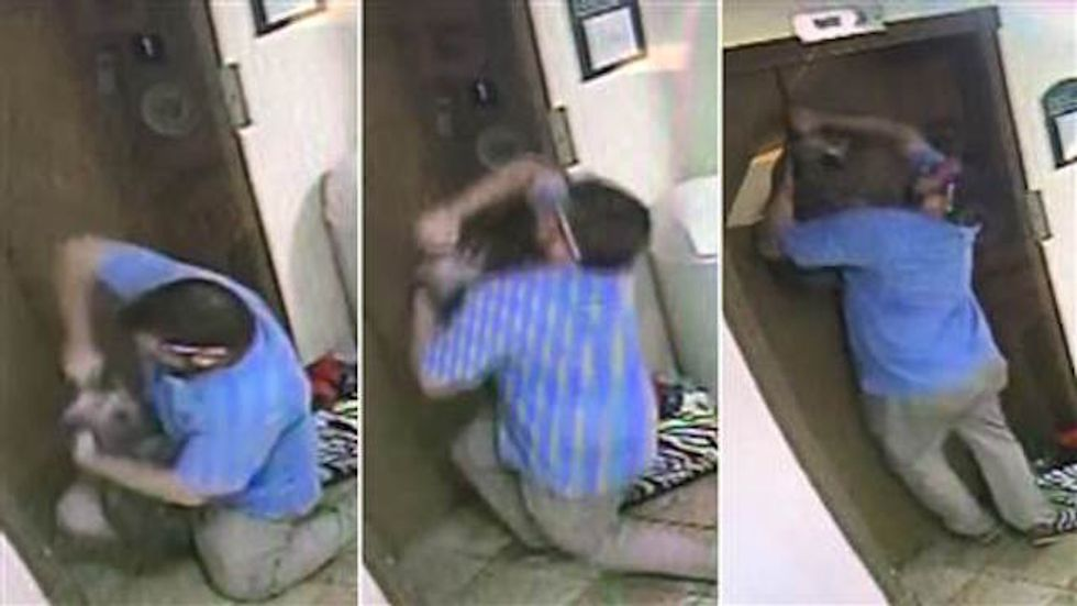 Random Act Of Sport: Hotel Manager Saves Dog Stuck In Elevator