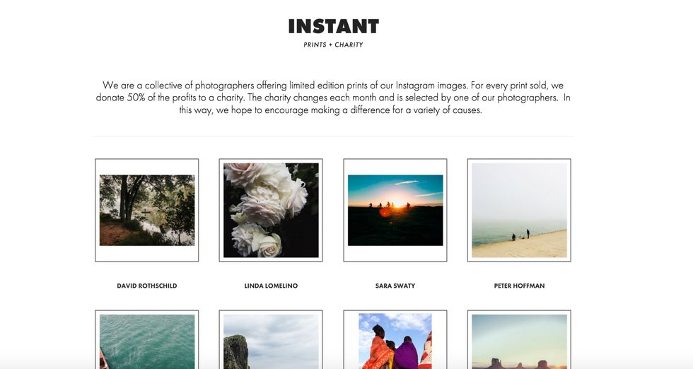 A Virtual Gallery Sells You Instagram Prints for Charity