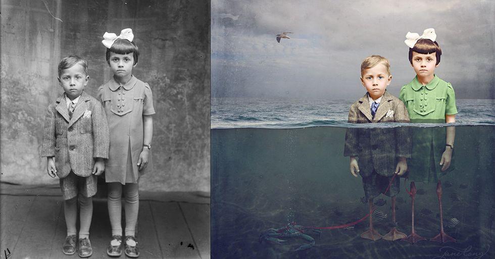 Australian Photographer Repurposes Vintage Photos Into Fascinating New Stories