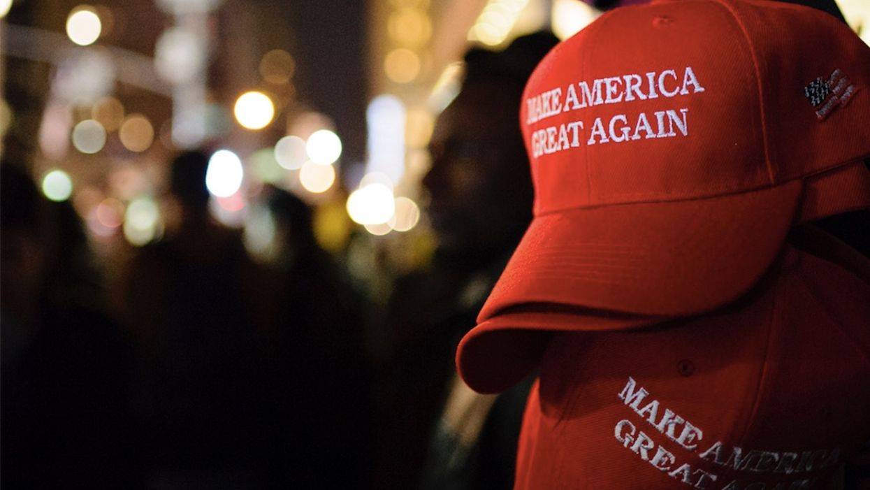Multiple females allegedly push, punch former college linebacker over his MAGA hat. He handles it like a gentleman.
