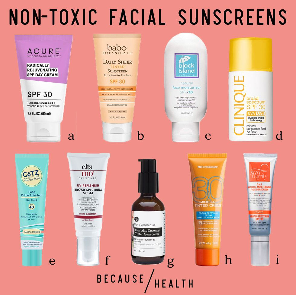 The 9 Best Non-Toxic Facial Sunscreens - Because Health