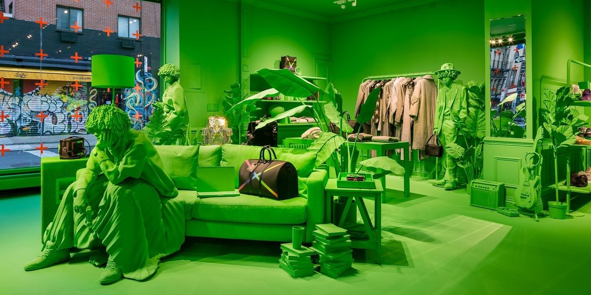 Louis Vuitton Opens Slime Green NYC Pop-Up
