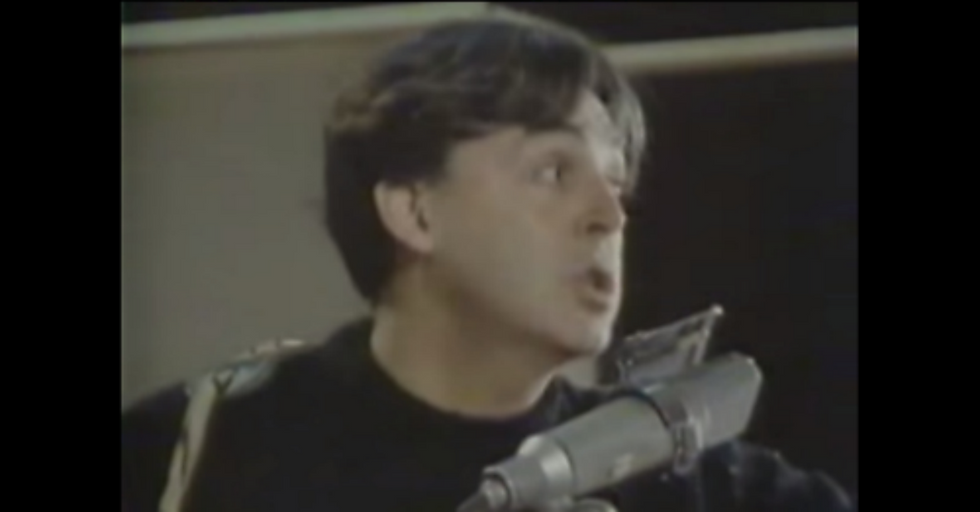 Old Tape Of Paul McCartney's Off-The-Cuff Studio Performance Makes Being A Melodic Genius Look Easy